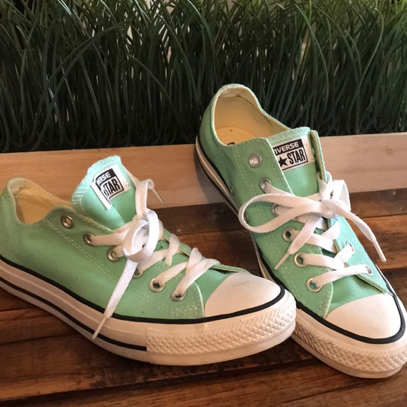 61a42767a610 Converse Shoes - Mint green Converse sneakers!